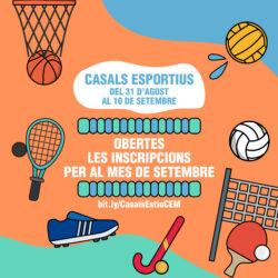 Casals esportius Setembre 2020