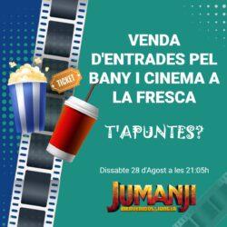 Cinema a la Fresca (dissabte 28 d'agost a les 21.05h)
