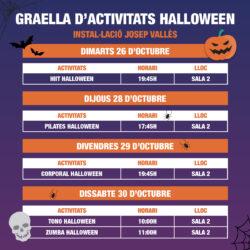 Graella – Horaris activitats dirigides